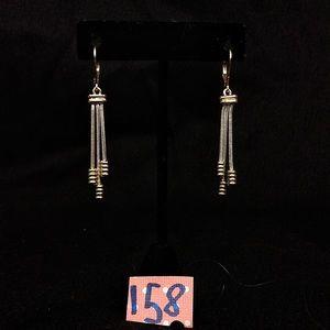 Vintage Silv/Gldtone French Hook Earring w/Tassels